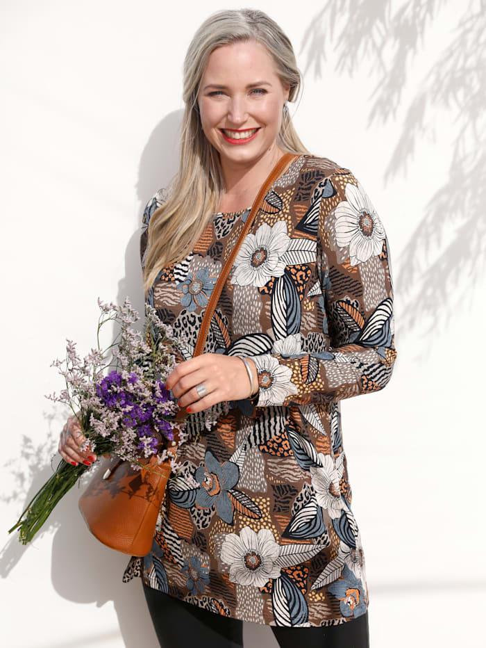 MIAMODA Longshirt mit floralem Druck, Multicolor