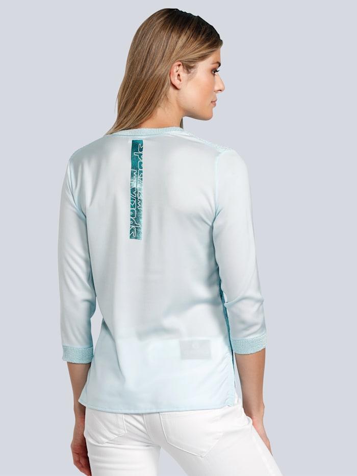 Pullover mit Ärmel und Rückenteil aus Blusenstoff