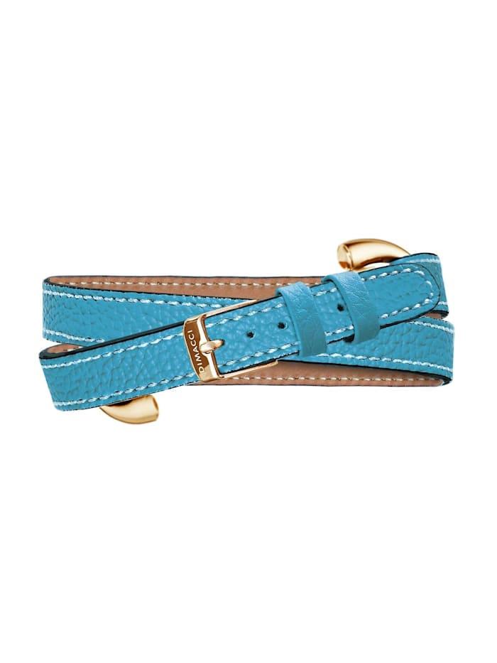 Dimacci Damen-Armband Edelstahl/Leder