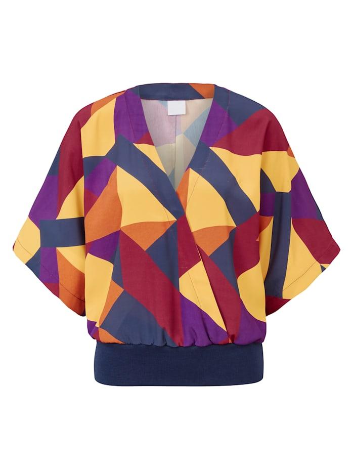 REKEN MAAR Bluse, Multicolor