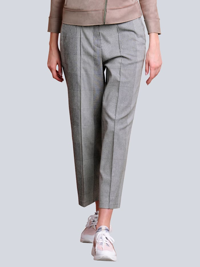 Alba Moda Culotte in trendiger Culotteform, Schwarz/Weiß