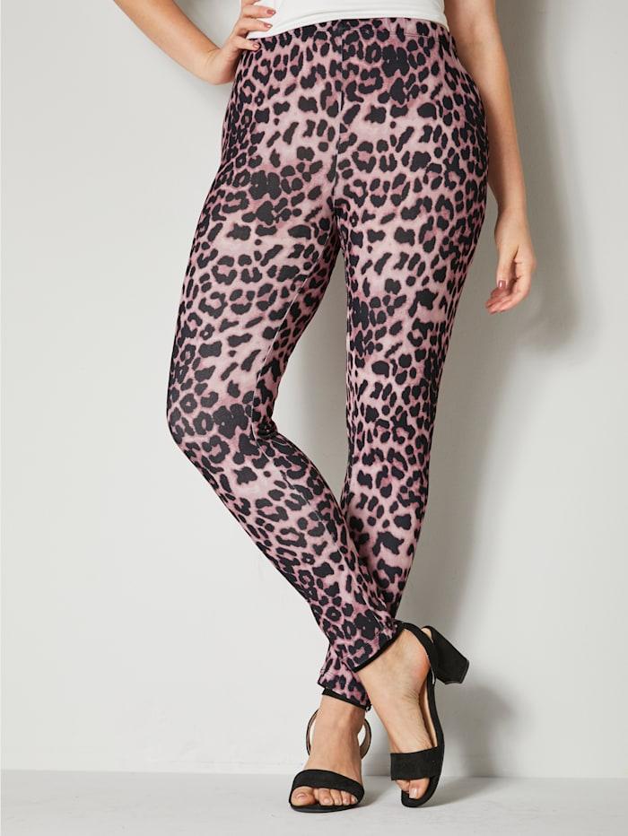 Legging mit Leopardendessin