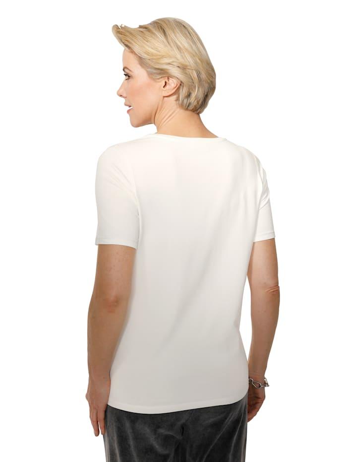 Shirt mit dekorativer Steinchenzier
