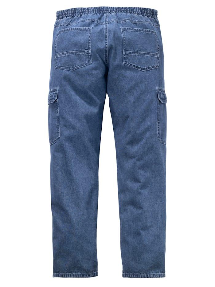 Cargo-Jeans mit Rundumgummibund