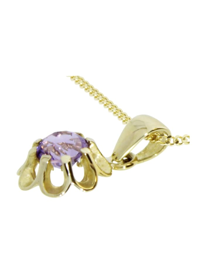 Kette mit Anhänger - Pia - Gold 333/000 - Amethyst