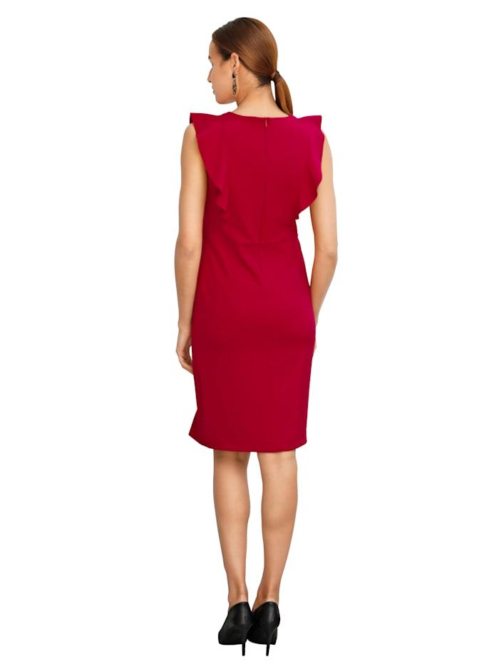 Kleid mit Volantzier
