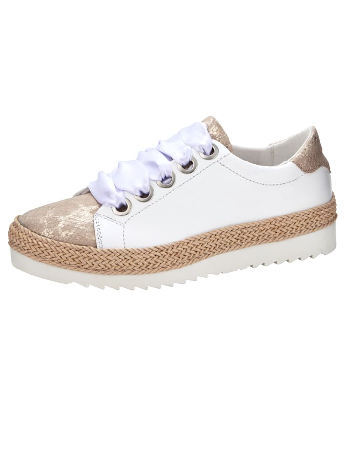 Platform trainers with croc-effect detail, White