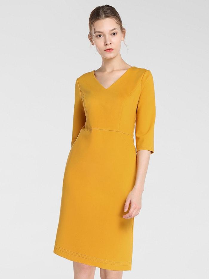 APART Kleid in schmalem Schnitt, gelb