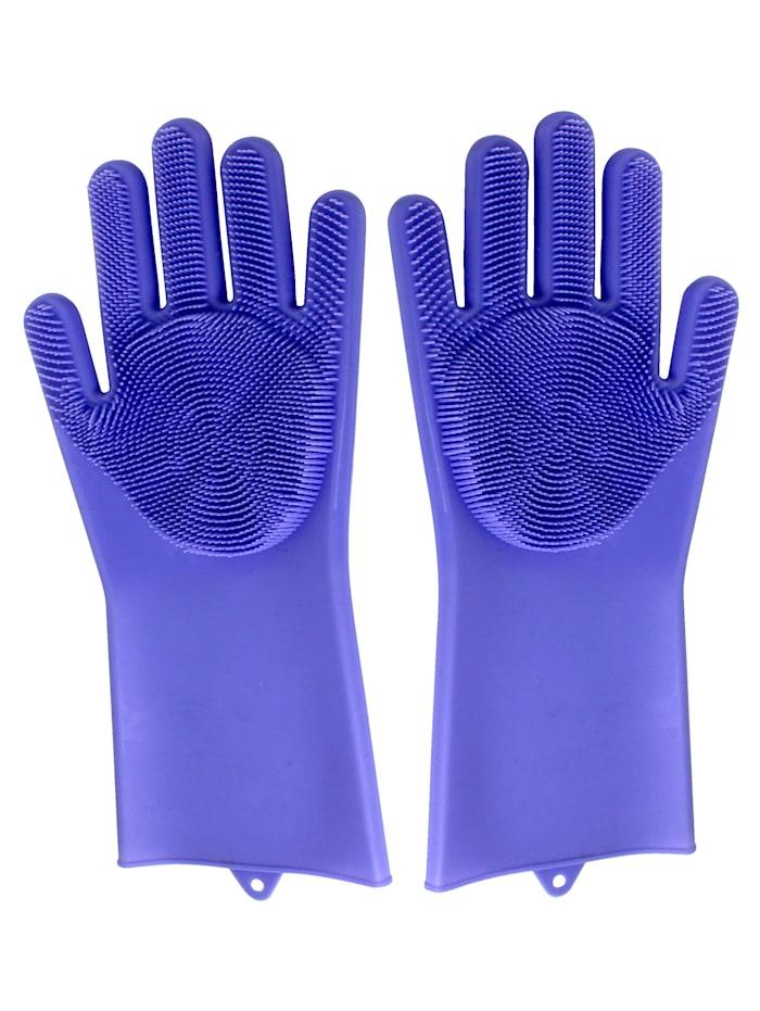 Gants de nettoyage en silicone, 1 paire
