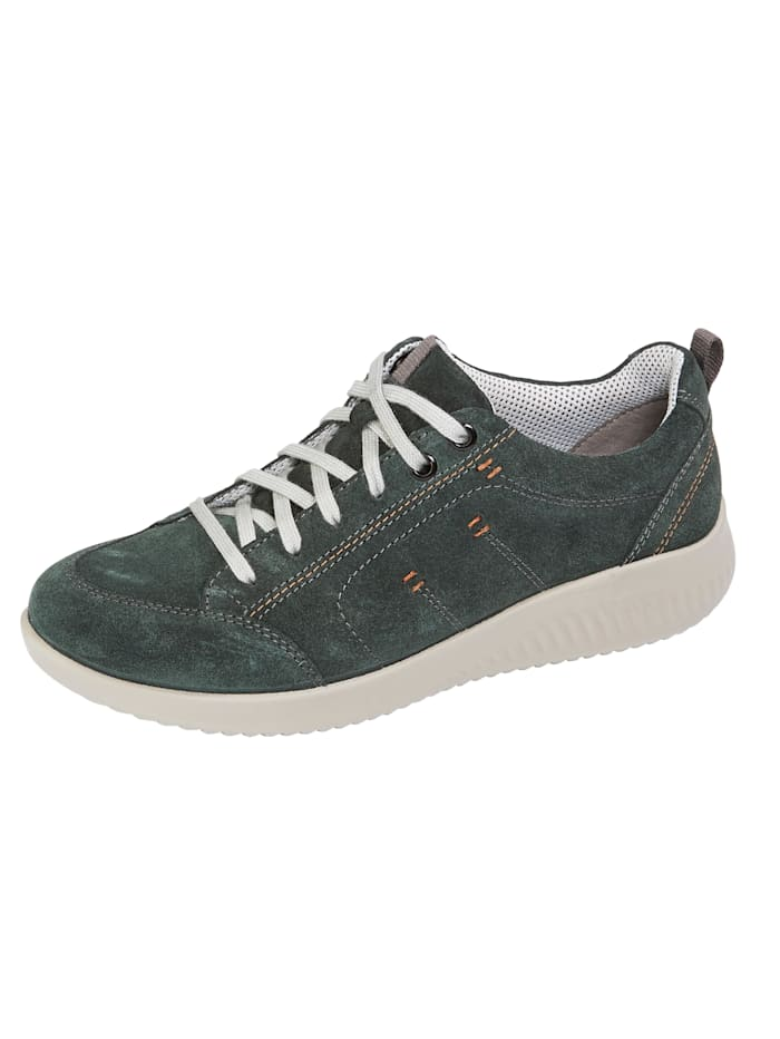 Naturläufer Lace-up shoes with a breathable lining, Green