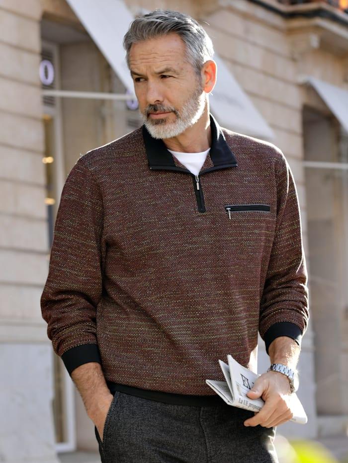 BABISTA Sweatshirt in veredelter Baumwolle mit Microfaser, Schwarz/Multicolor