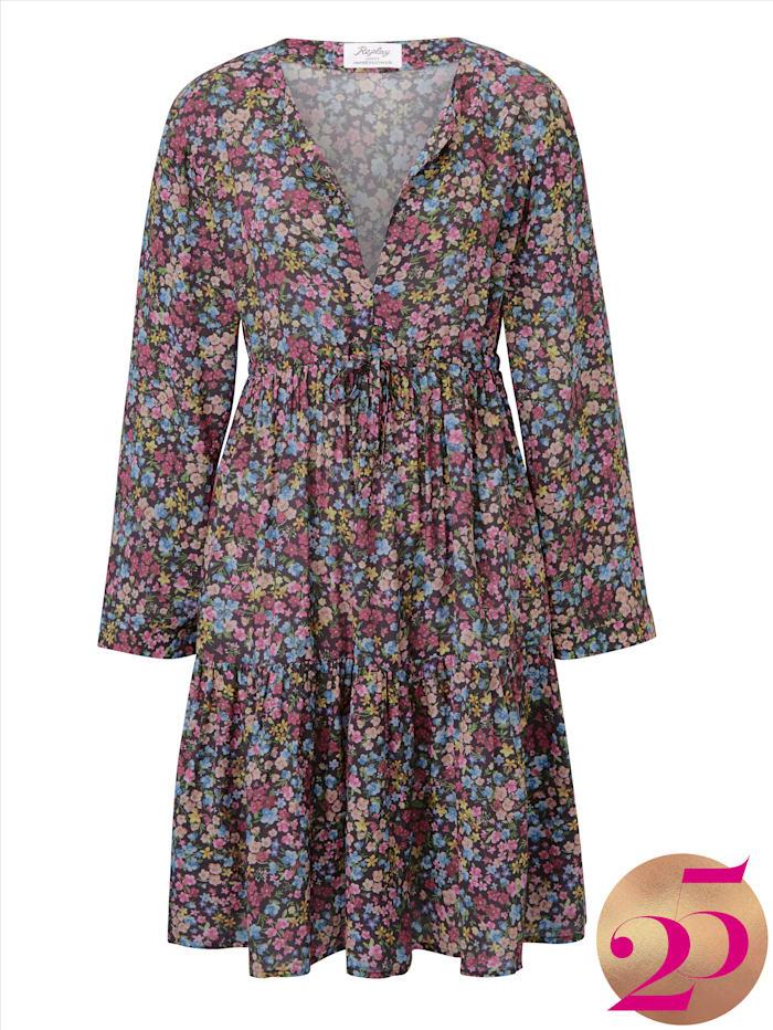 REPLAY Kleid mit Blumenprint, Jubiläumskollektion, Rosé