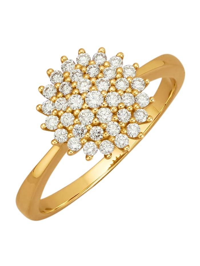 Amara Diamants Bague avec 37 brillants purs à la loupe, Blanc