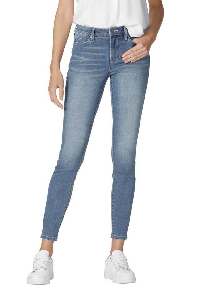 Liverpool Skinny jeans van comfortabel materiaal, Lichtblauw