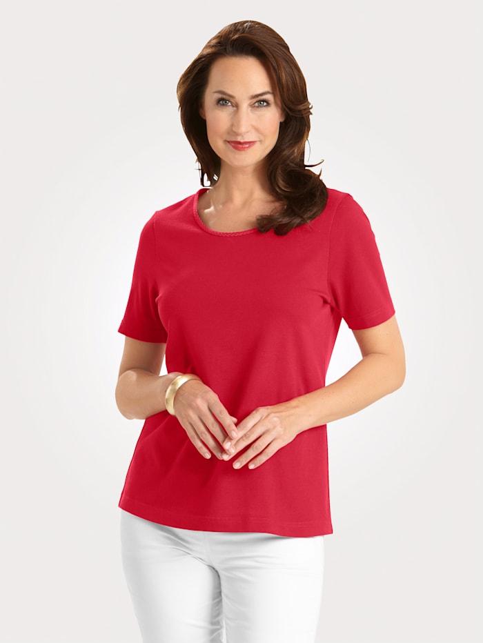 MONA Shirt mit Pima Baumwolle, Rot