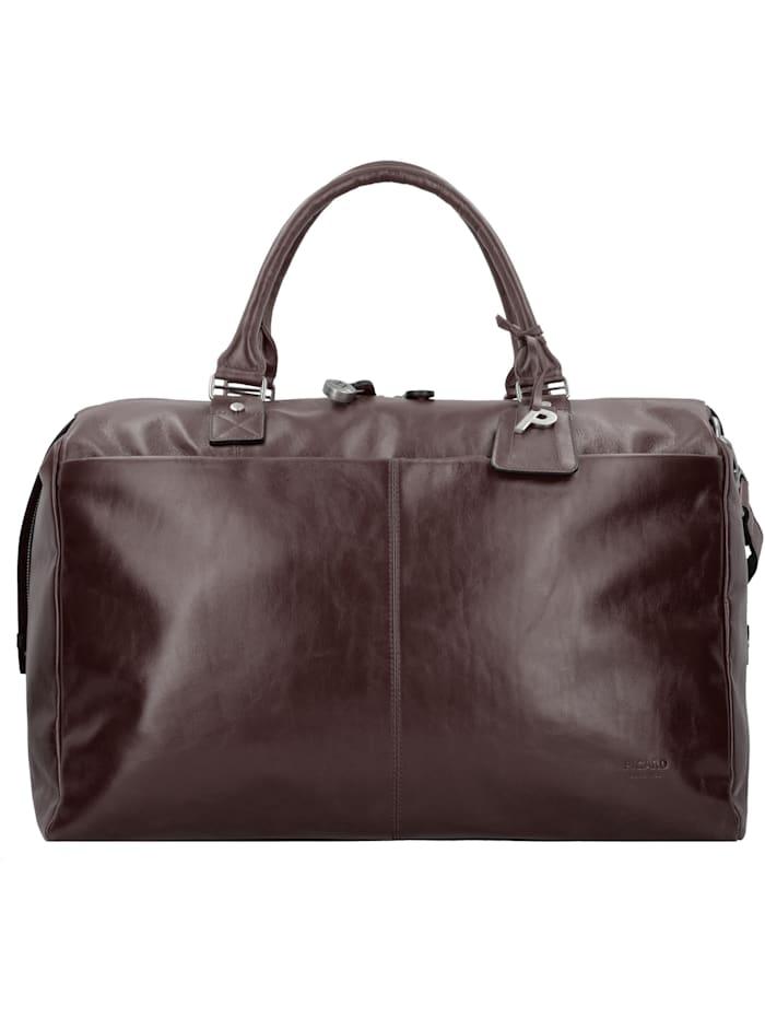 Picard Weekender Reisetasche 52 cm Leder verdecktes Adressschild, Bodennägel, Adresseanhänger, cafe