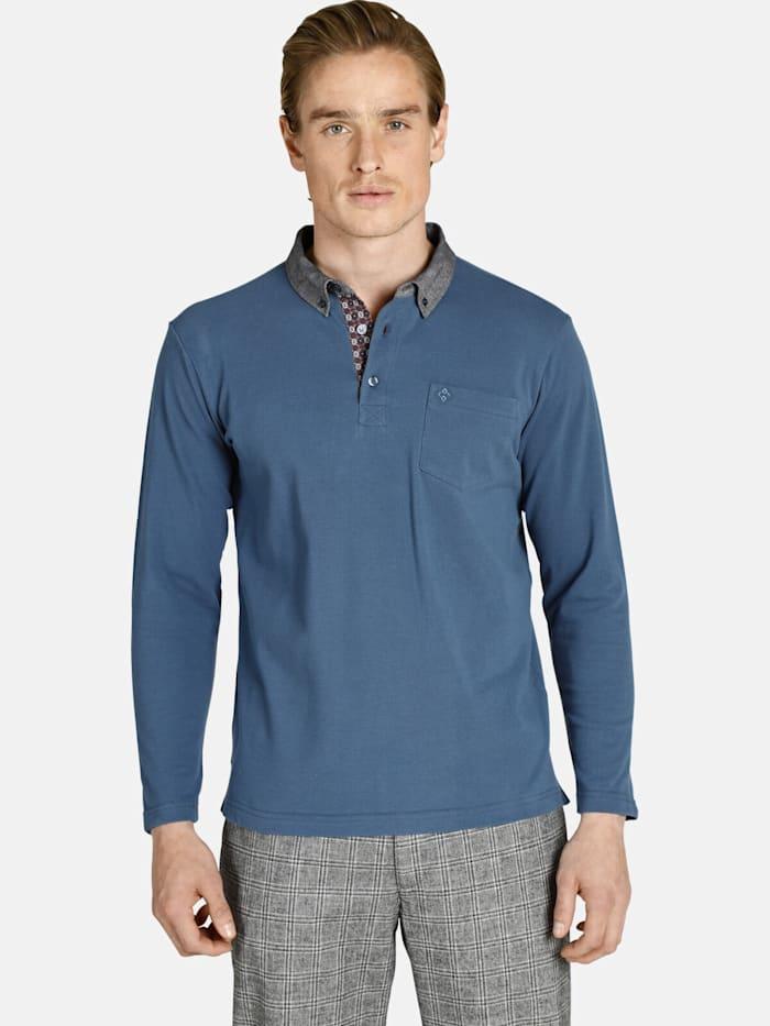 Charles Colby Langarm-Poloshirt DUKE BRENNAN