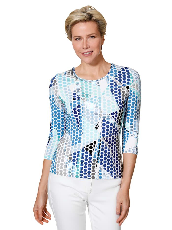 Barbara Lebek Shirt, Marine/Blauw/Wit