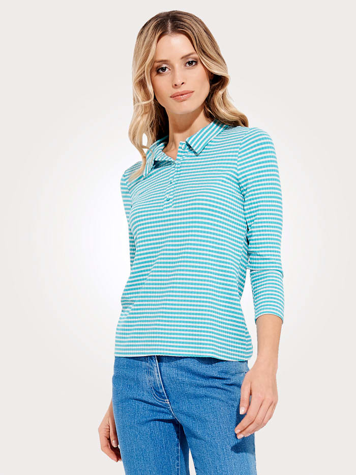 Jersey polo shirt with classic stripes