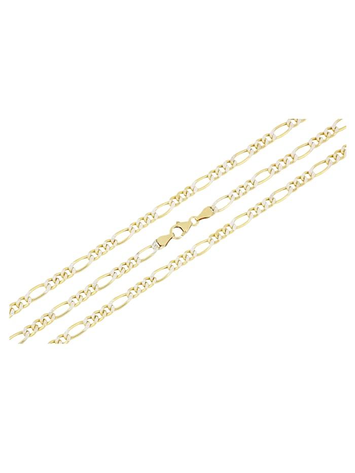 Grazielli Figarokette in Silber 925, vergoldet, Gelbgoldfarben