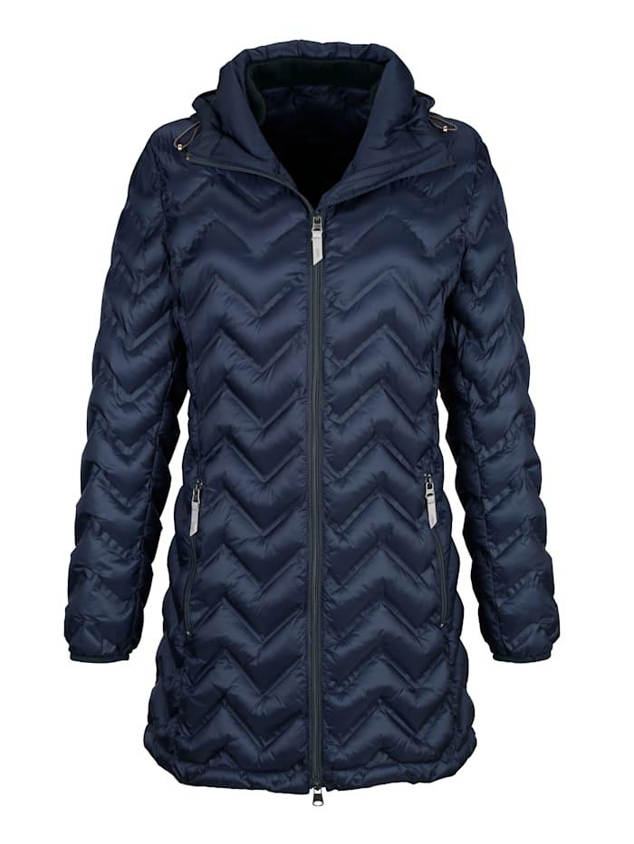 Gewatteerde jas met zigzagstiksels