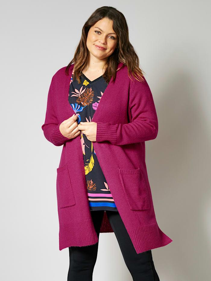 Sara Lindholm Vest in een opvallende kleur, Fuchsia