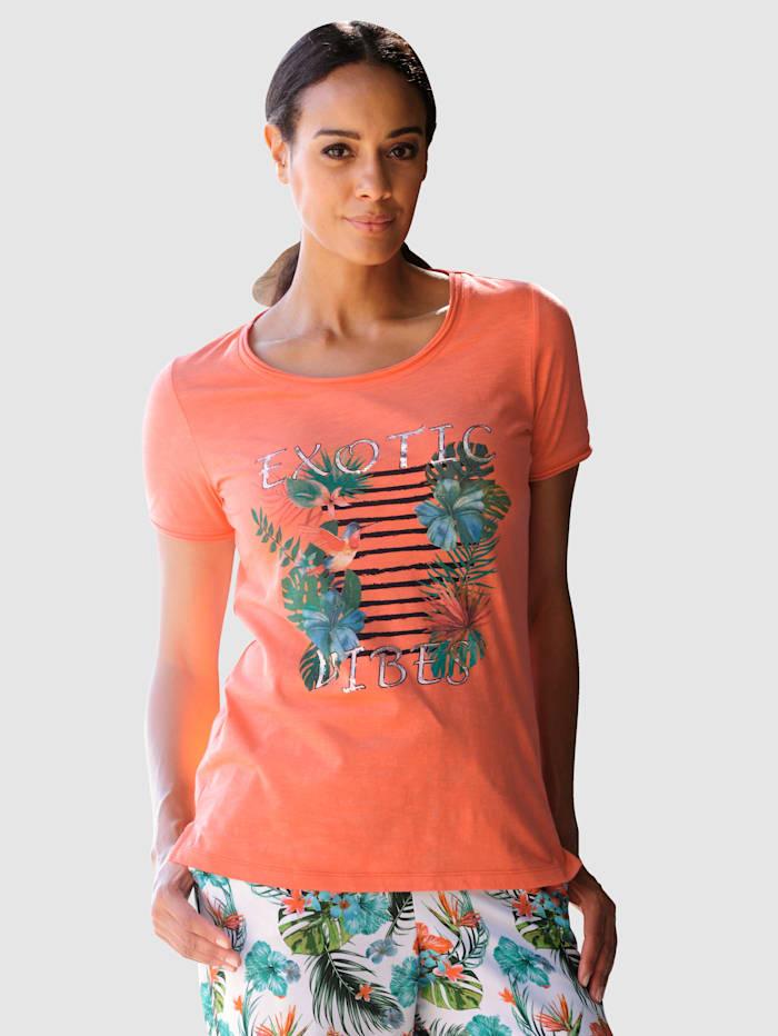Alba Moda Strandshirt met motief, Koraal