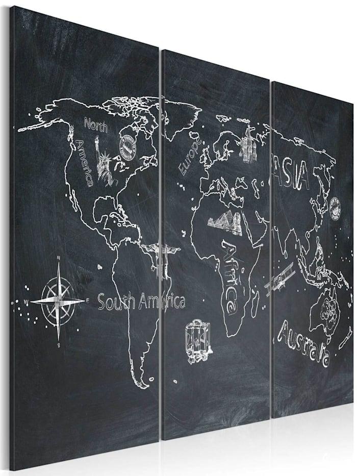 artgeist Wandbild Reisen bildet - Triptychon, Grau,Weiß