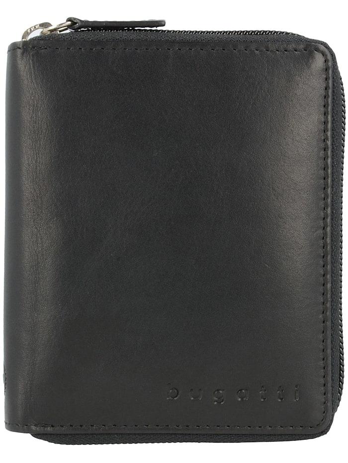 Bugatti Primo RFID Geldbörse Leder 10 cm, schwarz