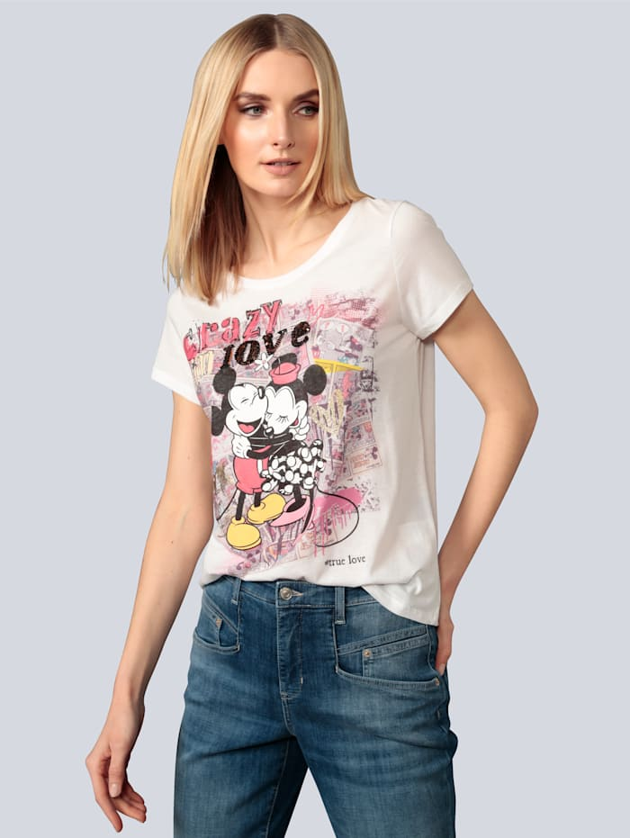 Princess GOES HOLLYWOOD Shirt mit Glitzereffekt, Weiß