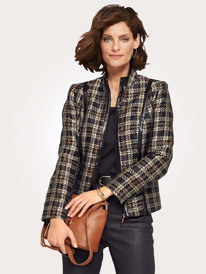 Blazer with a contemporary check pattern