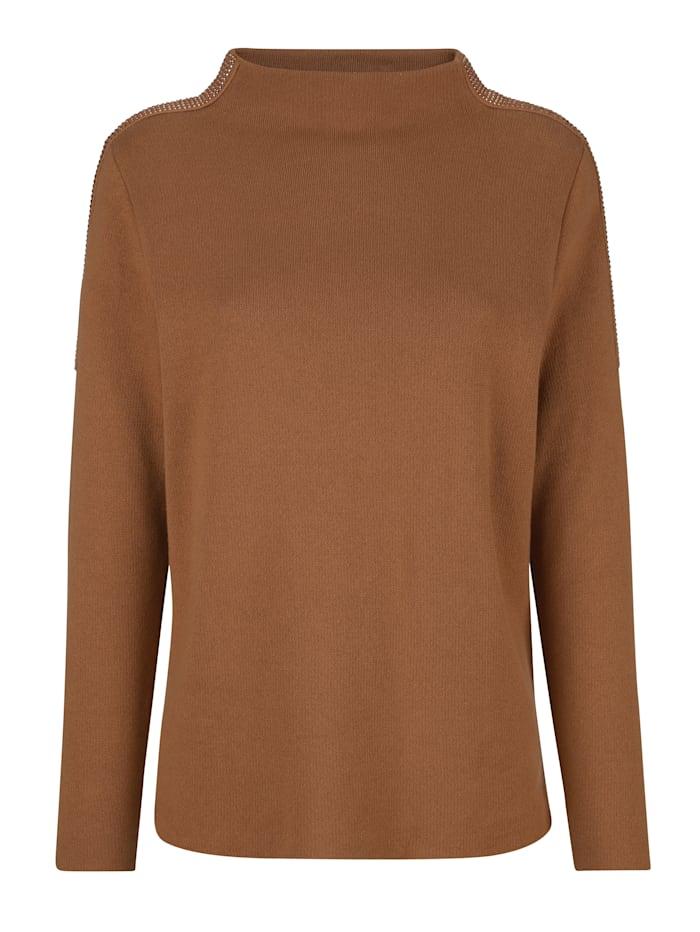 Pullover mit modischem Kelchkragen