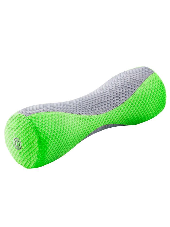 Maximex Faszienrolle mit Vibrationsmassage, Grün/Grau