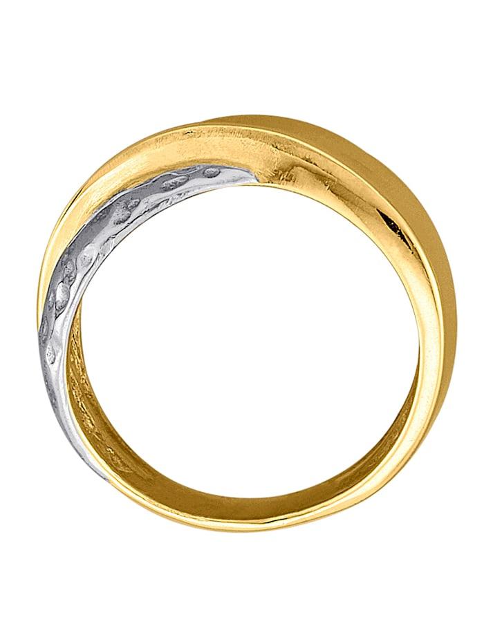 Damenring in Silber 925/Gelbgold 585