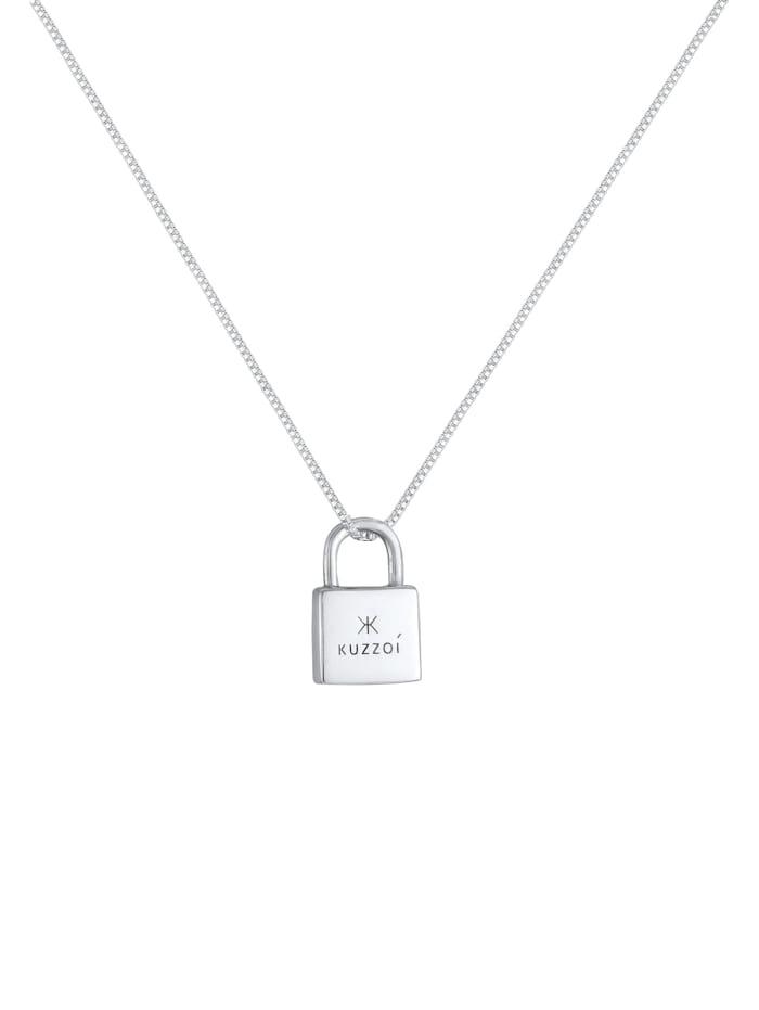 Halskette Herren Vorhängeschloss Schloss Liebe 925 Silber