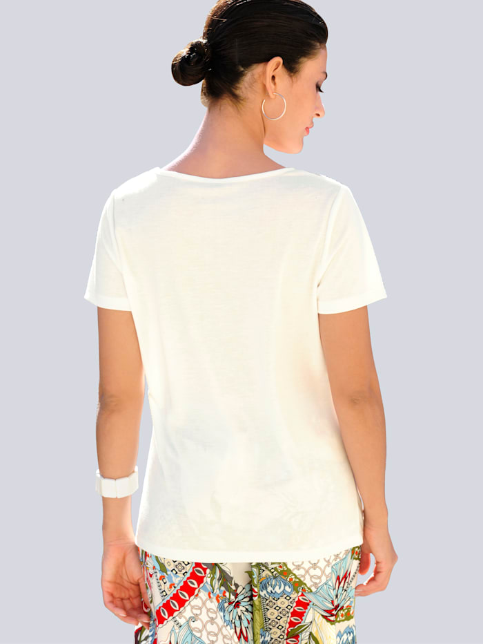 Shirt met ausbrennermotief