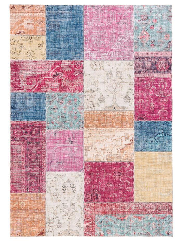 Pergamon Luxus Vintage Designer Teppich Primus Patchwork, Bunt