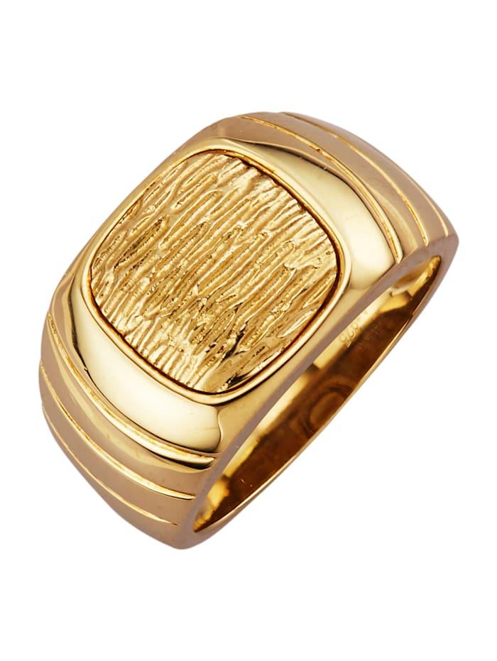 Herrenring in Silber 925, vergoldet, Gelbgoldfarben