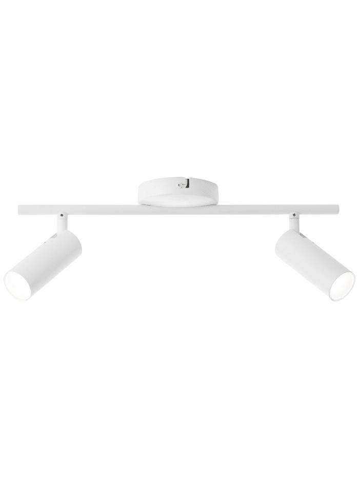 Brilliant Soeren LED Spotrohr 2flg weiß matt, weiß matt