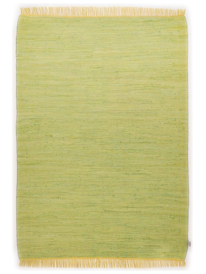 Tom Tailor Handwebteppich Cotton, Grün
