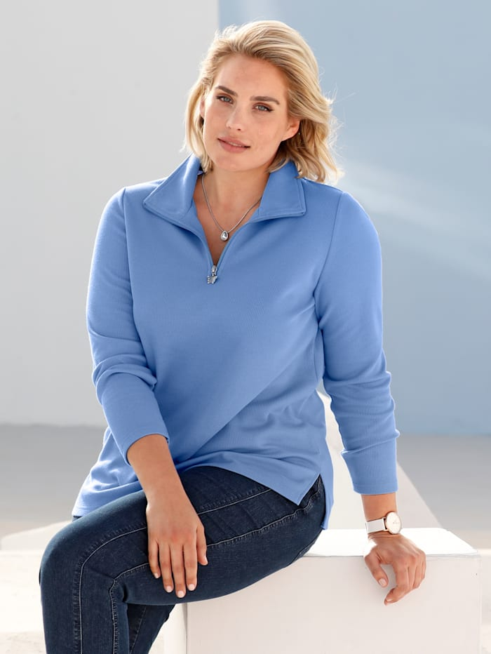 m. collection Sweatshirt in trendy basic model, Blauw