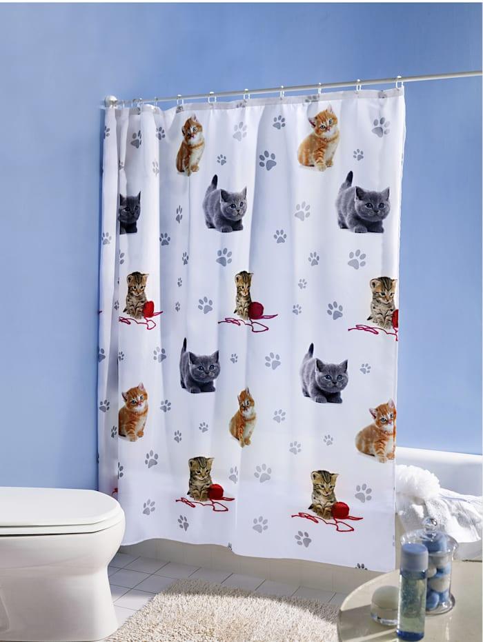 TRI Duschvorhang 'Kätzchen', weiß