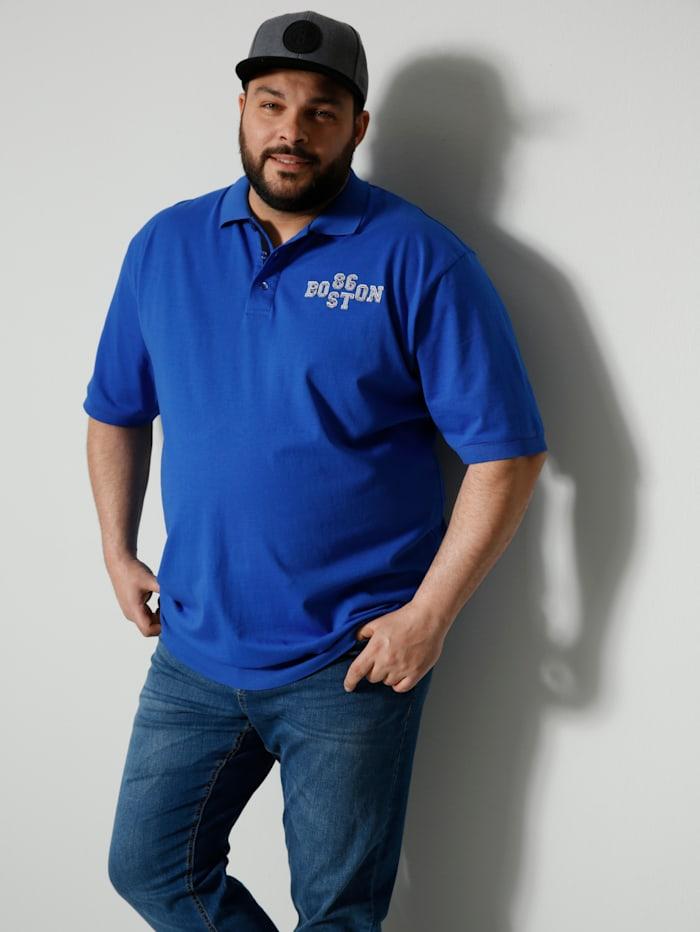 Men Plus Poloshirt Spezialschnitt, Blau