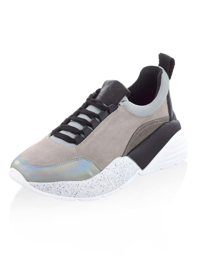 Alba Moda Sneaker in Chunky-Form, Grau/Weiß