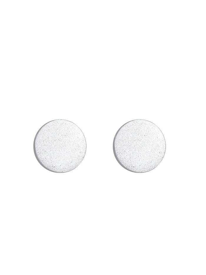 Ohrringe Kreis Geo Mattiert 925 Sterling Silber