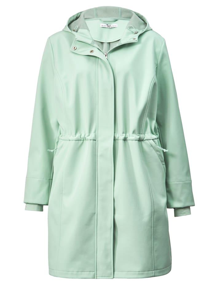 Janet & Joyce Softshell jas voor outdoor, Jadegroen