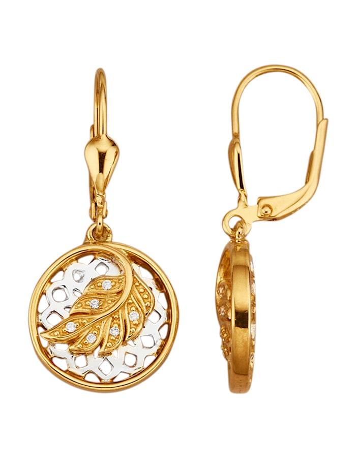 Diemer Trend Ohrringe in Silber 925, rhodiniert, Weiß