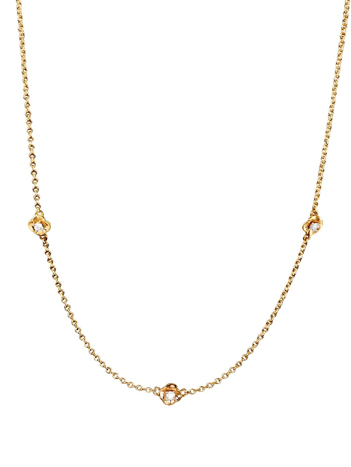 AMY VERMONT Halsband med diamanter, Guldfärgad