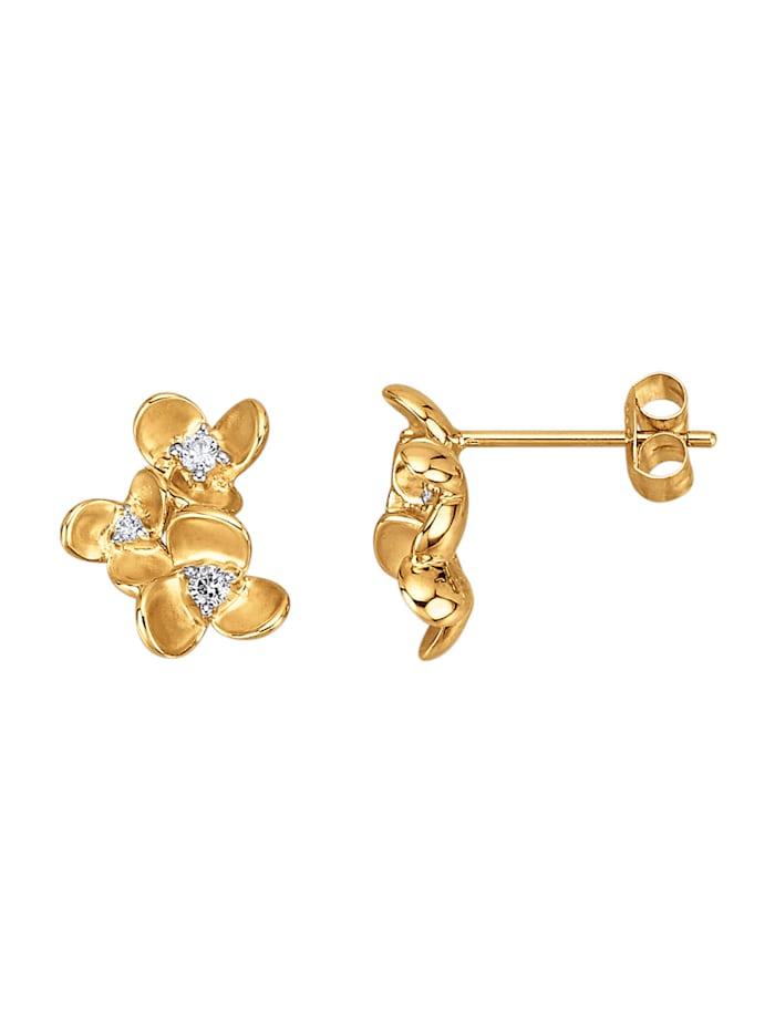 Diemer Diamant Örhängen med briljanter, Guldfärgad