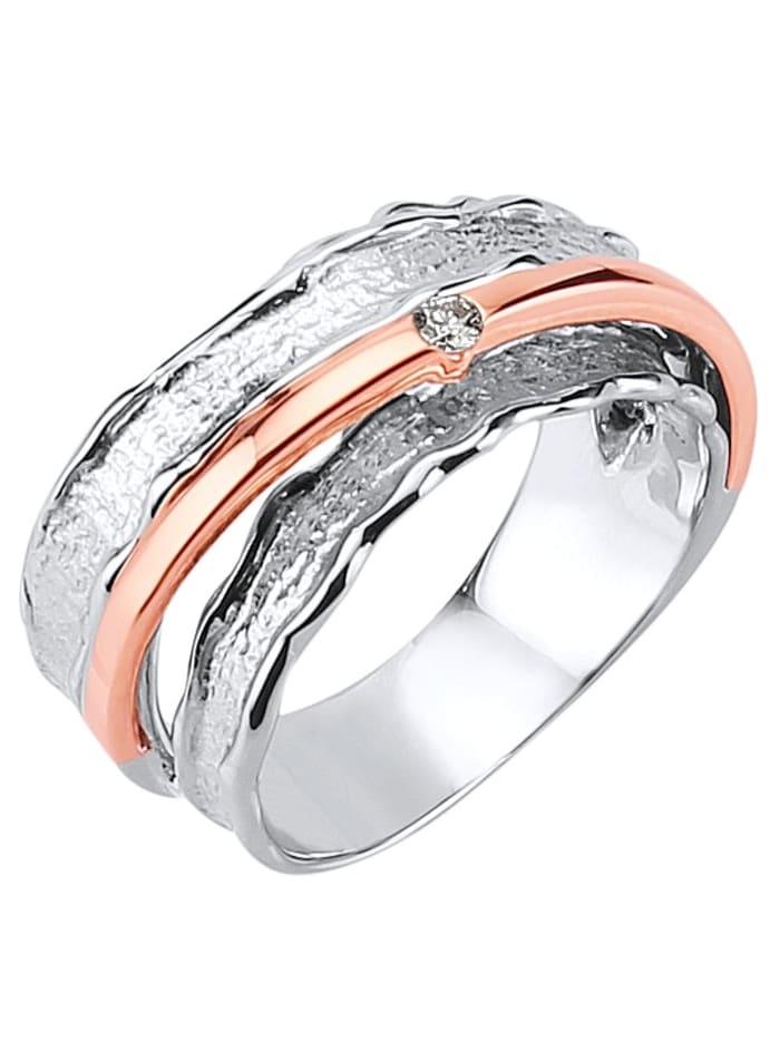Diemer Diamant Damenring mit Diamant, Multicolor